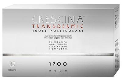 TRATTAMENTO COMPLETO CRESCINA TRANSDERMIC ISOLE FOLLICOLARI 1700 UOMO 10+10 FIALE DA 3,5 ML