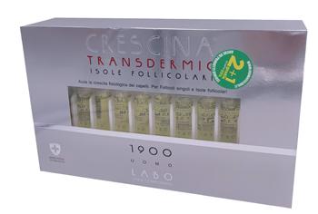 TRATTAMENTO COMPLETO CRESCINA TRANSDERMIC ISOLE FOLLICOLARI 1900 UOMO 10+10 FIALE DA 3,5 ML