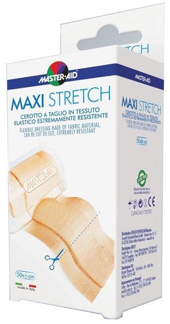 MASTER-AID STRETCH CEROTTO A TAGLIO IN TESSUTO ELASTICO RESISTENTE 50 X 6 CM - Farmabros.it