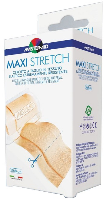 Master-Aid Stretch Cerotto a Taglio in Tessuto Elastico Resistente 50 x 8cm - Sempredisponibile.it
