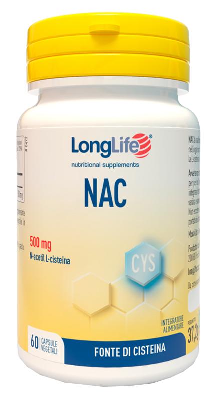 LONGLIFE NAC 60 CAPSULE VEGETALI - Parafarmacia la Fattoria della Salute S.n.c. di Delfini Dott.ssa Giulia e Marra Dott.ssa Michela