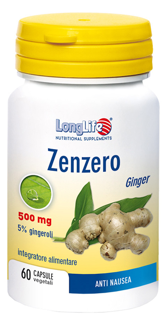 LongLife Zenzero 500 mg Integratore 60 Capsule