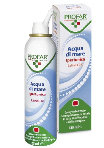 ACQUA DI MARE SPRAY IPERTONICA 3% PROFAR 125 ML - Farmabellezza.it