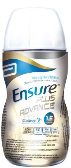 ENSURE PLUS ADVANCE VANIGLIA 4 BOTTIGLIE DA 220 ML - farmaciadeglispeziali.it