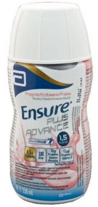 ENSURE PLUS ADVANCE FRAGOLA 4 BOTTIGLIE DA 220 ML - Farmastop