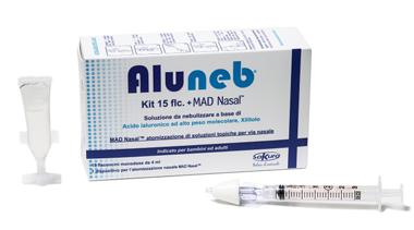 ALUNEB KIT SOLUZIONE ISOTONICA 15 FLACONCINI DA 4 ML + MAD NASAL ATOMIZZATORE - farmaciadeglispeziali.it