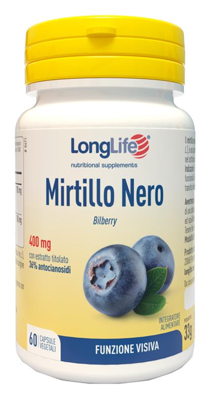 LONGLIFE MIRTILLO NERO 60 CAPSULE VEGETALI - Sempredisponibile.it