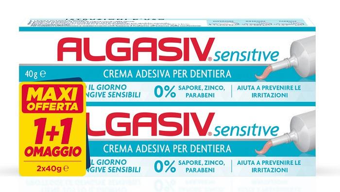 ALGASIV CREMA ADESIVA DENTIERE CONFEZIONE IN ABBINAMENTO 40 G+ 40 G - SUBITOINFARMA