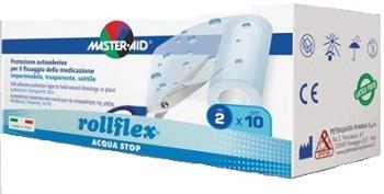 CEROTTO IMPERMEABILE PER FISSAGGIO MEDICAZIONI M-AID ROLLFLEX A-STOP M 10X10 CM - latuafarmaciaonline.it