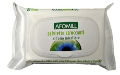 AFOMILL SALVIETTINE STRUCCANTI OLIO MICELLARE - Spacefarma.it