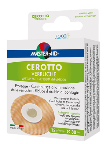 CEROTTO VERRUCHE MASTER-AID FOOT CARE 12 PEZZI - farmaciadeglispeziali.it