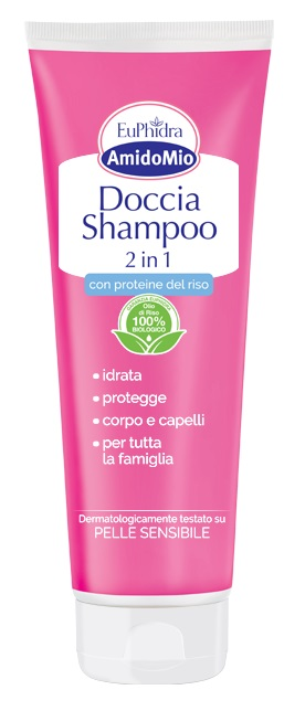 EUPHIDRA AMIDOMIO DOCCIA SHAMPOO 2 IN 1 250 ML - Farmia.it