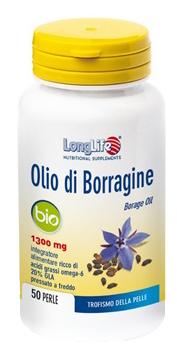 LongLife Olio Di Borragine Bio Integratore Pelle 50 Perle