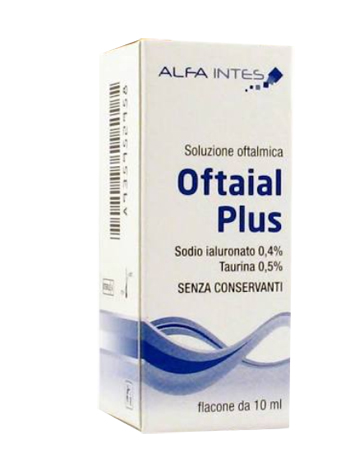SOLUZIONE OFTALMICA OFTAIAL PLUS ACIDO IALURONICO 0,4% E TAURINA 10ML - Farmacia Puddu Baire S.r.l.