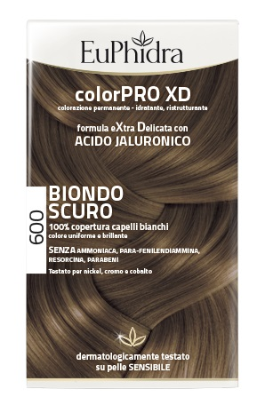 EUPHIDRA COLORPRO XD 600 BIONDO SCURO GEL COLORANTE CAPELLI IN FLACONE + ATTIVANTE + BALSAMO + GUANTI - Farmaciaempatica.it
