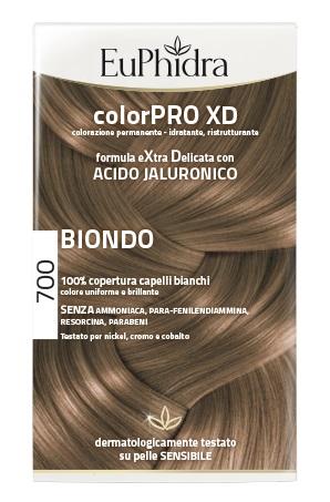 EUPHIDRA COLORPRO XD 700 BIONDO GEL COLORANTE CAPELLI IN FLACONE + ATTIVANTE + BALSAMO + GUANTI - La farmacia digitale