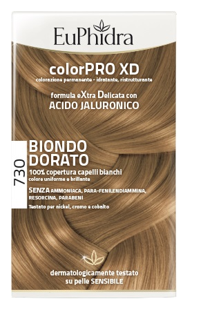 EUPHIDRA COLORPRO XD 730 BIONDO DORATO GEL COLORANTE CAPELLI IN FLACONE + ATTIVANTE + BALSAMO + GUANTI - Farmapage.it