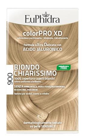 EUPHIDRA COLORPRO XD 900 BIONDO CHIARISSIMO GEL COLORANTE CAPELLI IN FLACONE + ATTIVANTE + BALSAMO + GUANTI - Farmacia Castel del Monte