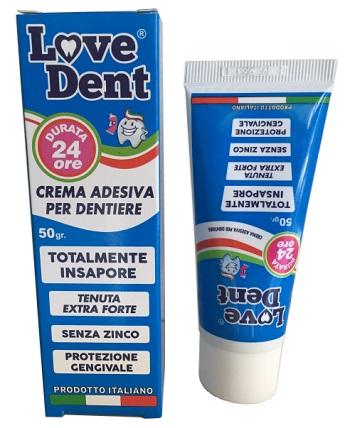 LOVE DENT CREMA ADESIVA PER DENTIERE 50 G - Farmafamily.it