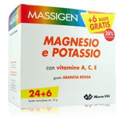 MASSIGEN MAGNESIO E POTASSIO IN BUSTINA CON ASTUCCIO 24+6 - Farmapass