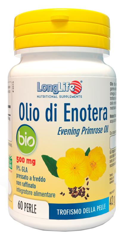LongLife Olio Di Enotera Bio 500 mg Integratore Per La Pelle 60 Perle offerta