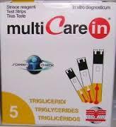 TEST TRIGLICERIDI MULTICARE IN STRISCE CON ASPIRAZIONE CAPIILLARE 5 PEZZI - Farmacia Centrale Dr. Monteleone Adriano