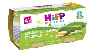 HIPP BIO HIPP BIO OMOGENEIZZATO ZUCCHINE CON PATATE 2X80 G - Farmacianuova.eu