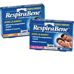 CEROTTO NASALE CLASSICO GRANDE ADULTI RESPIRA BENE 10 PEZZI - Farmaciaempatica.it