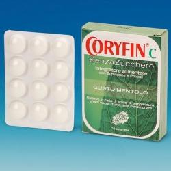 Coryfin C Senza Zucchero Caramelle Al Mentolo Integratore 24 Pezzi