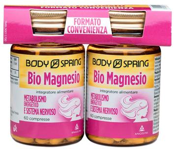 Body Spring Bio Magnesio Bipacco Integratore Metabolismo Energetico e Sistema Nervoso 60+60 Compresse