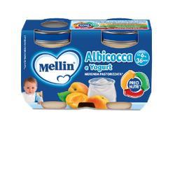 Mellin Merenda Albicocca e Yogurt 2 x 120 g - Farmalilla
