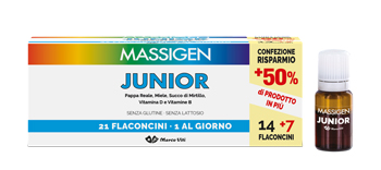 MASSIGEN JUNIOR 21 FLACONCINI DA 10 ML - Farmacia Bartoli