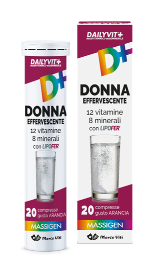 MASSIGEN DAILYVIT DONNA EFFERVESCENTE 20 COMPRESSE - FARMAPRIME