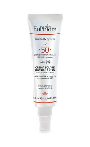 EUPHIDRA KALEIDO UV SYSTEM CREMA SOLARE VISO 50+ INVISIBLE - Farmaseller