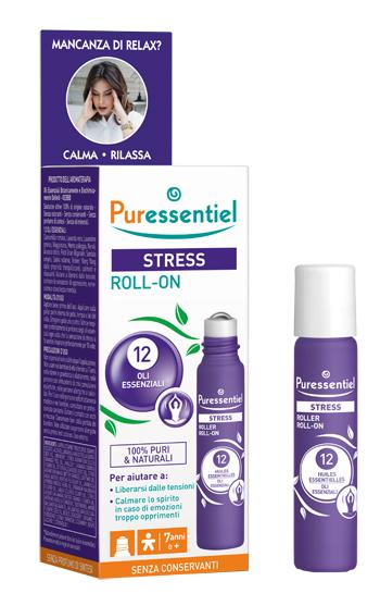 PURESSENTIEL ROLLER SOS STRESS 12 OLI ESSENZIALI 5 ML - latuafarmaciaonline.it