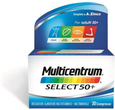 Multicentrum Select 50+ Integratore Sali Minerali 30 Compresse