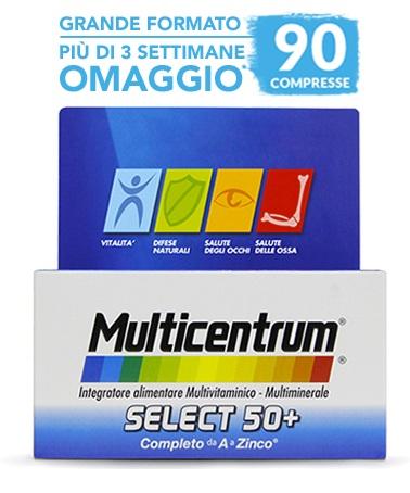 MULTICENTRUM SELECT 50+ 90 COMPRESSE - Farmaciacarpediem.it