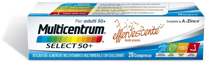 MULTICENTRUM SELECT EFFERVESCENTE 20 COMPRESSE - Farmacia Bartoli