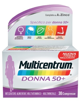 MULTICENTRUM DONNA 50+ 30 COMPRESSE - Farmapc.it