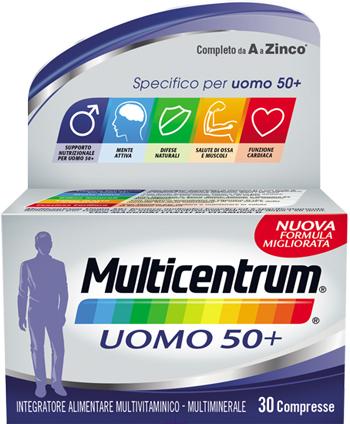 Multicentrum Uomo 50+  Integratore Alimentare 30 Compresse - latuafarmaciaonline.it