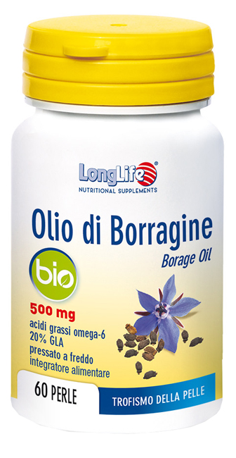 LONGLIFE OLIO BORRAGINE BIO 60 PERLE - farmasorriso.com