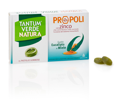 Tantum Verde Natura Propoli Eucalipto e Miele 15 Pastiglie Gommose - Sempredisponibile.it