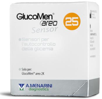 STRISCE GLUCOMEN AREO SENSOR PER ANALISI DEL GLUCOSIO 25 PEZZI - La farmacia digitale