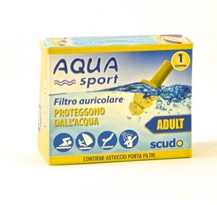 FILTRO AURICOLARE PER ADULTO EARPLUG SCUDO AQUASPORT 2 PEZZI - Farmabellezza.it