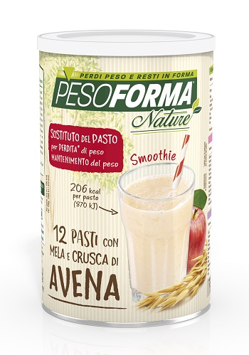 PESOFORMA NATURE SMOOTHIE MELA E CRUSCA AVENA 12 PASTI 420 G - La farmacia digitale