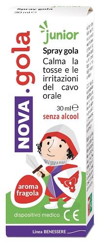 NOVA GOLA SPRAY JUNIOR FRAGOLA 30 ML - La farmacia digitale