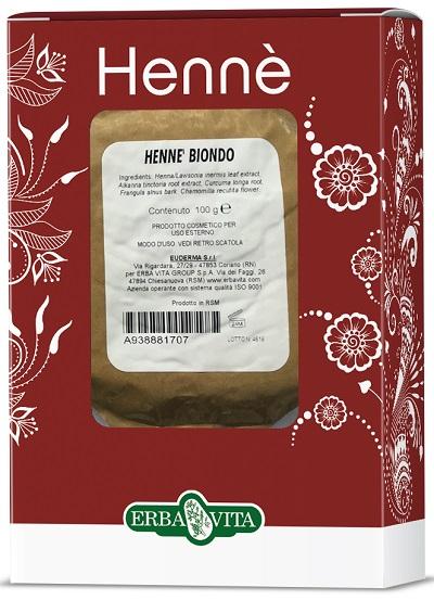 HENNE COLORANTE CAPELLI BIONDO 100 G