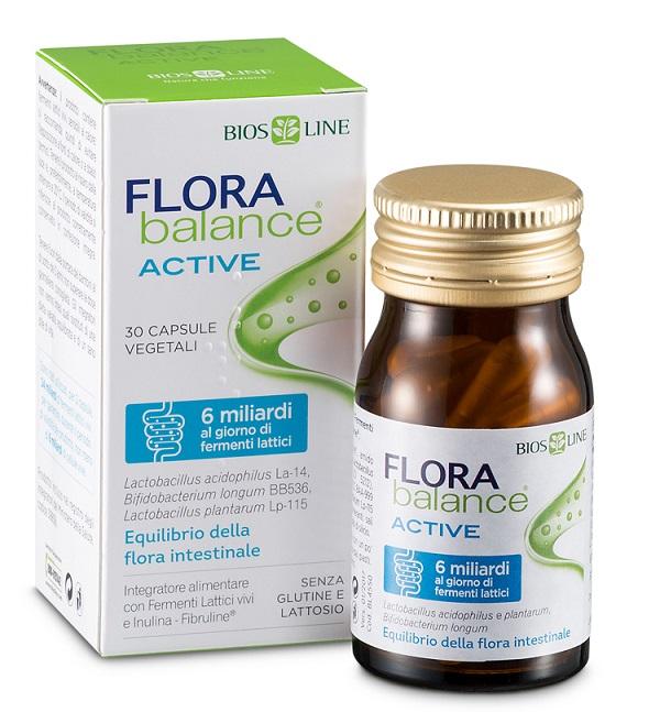 BIOSLINE FLORABALANCE ACTIVE 30 CAPSULE VEGETALI - Farmaciacarpediem.it