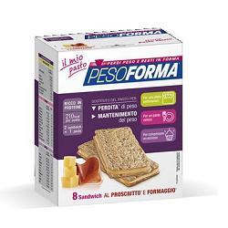 PESOFORMA SANDWICH PROSCIUTTO/FORMAGGIO 4 PASTI 8 PEZZI X 25 G - La farmacia digitale