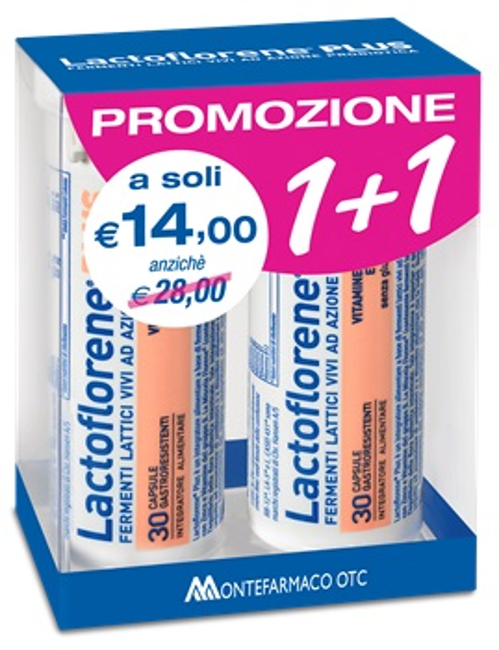 LACTOFLORENE PLUS BIPACK 30 CAPSULE 26,40 G - Farmabellezza.it